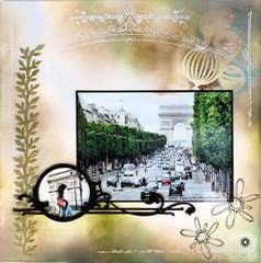 Champs Elysees & Arch de Triomphe, Paris