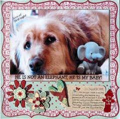 he is not an elephant, he is my baby!