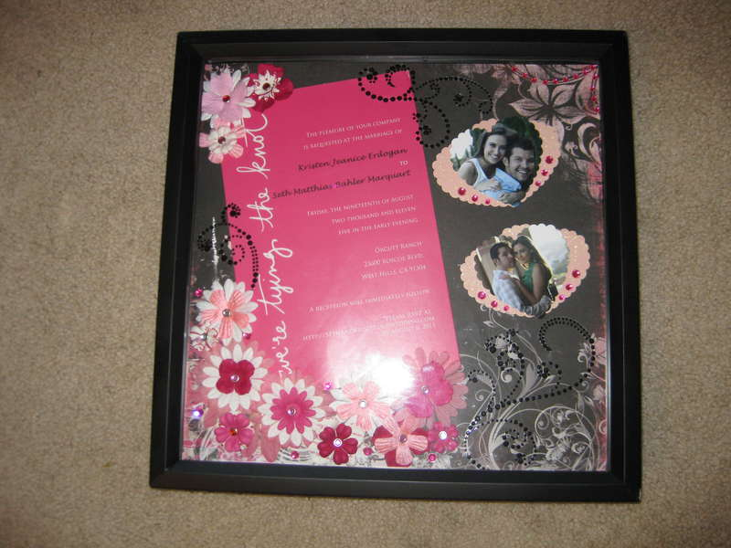 Pink and Black Themed Wedding Invitation - Layout Framed