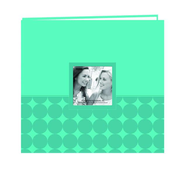 Embossed Circles Leatherette Scrapbook - Teal