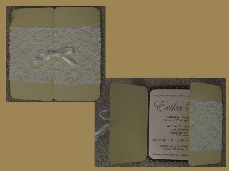 Vintage Elegance Bridal Shower Invitation