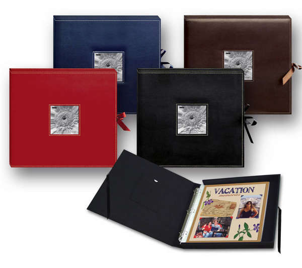 Boxed Photo Albums: Layout: Pioneer Photo Albums Sewn Scrapbook Box