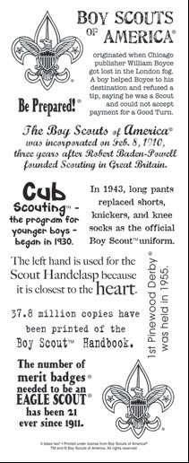 it takes two Boy Scout fact sticker
