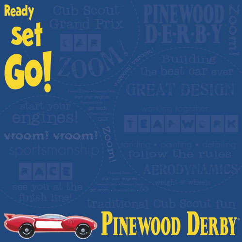 it takes two Cub Scout Pinewood Derby paper