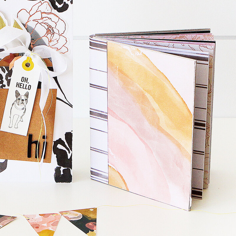 Honey & Spice Mini Album Made From Cards by Heidi Swapp
