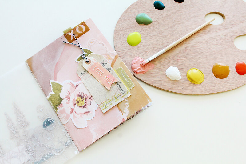 Painted Embossed Paper & Tags