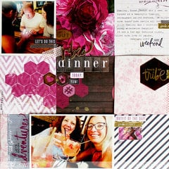 Easy Grid Style Scrapbook Page