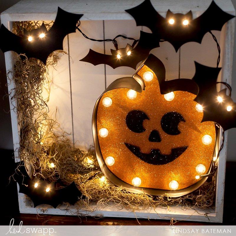 DIY Halloween Lights Decor