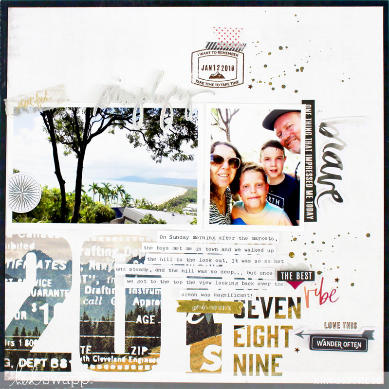Vacation Layout with Hawthorne Collection