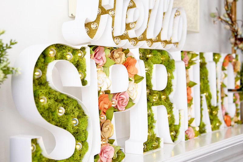"""So Much Fun with the New Heidi Swapp Spring and 10"""" Marquee Love Letters"""