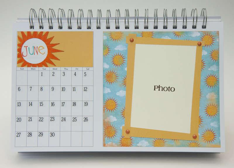 Desktop Flip Calendar - June