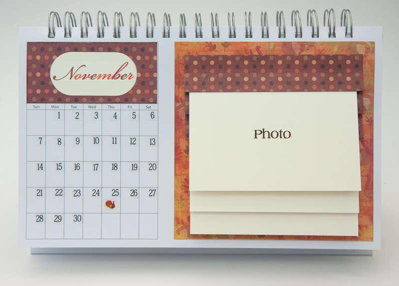 Desktop Flip Calendar - November