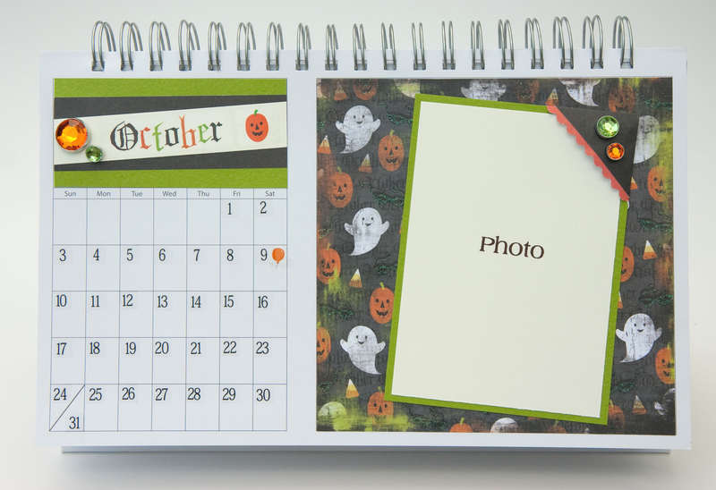 Desktop Flip Calendar - October