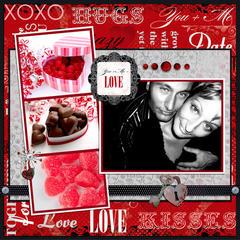 Valentine's Layout