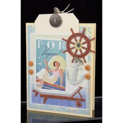 Bon Voyage Card II by Mary Francis