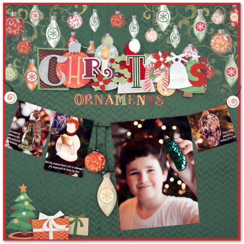 Christmas Ornaments Layout by Alice