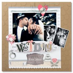 Our Wedding Day Layout by Tania