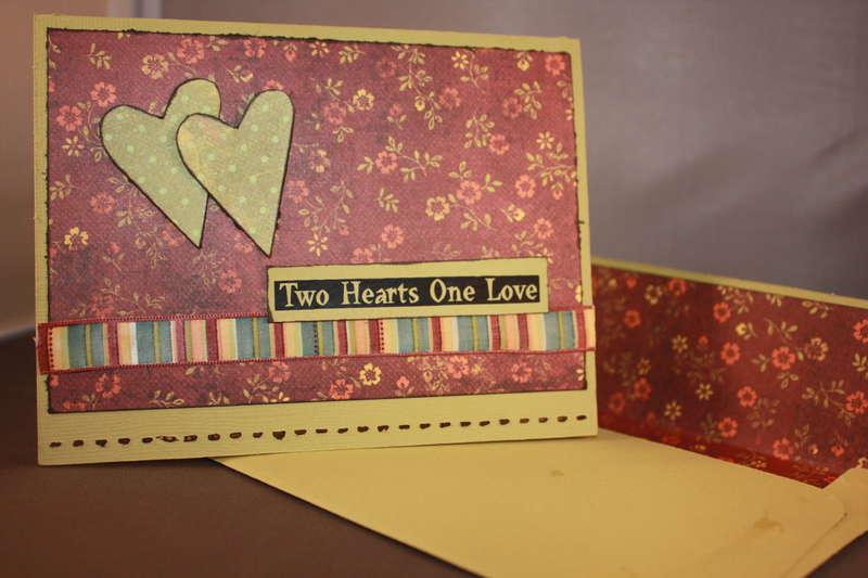 Autumn theme wedding congrats card