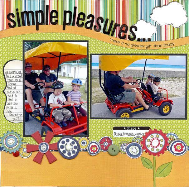 Simple pleasures...(Kraft Girl Kits)