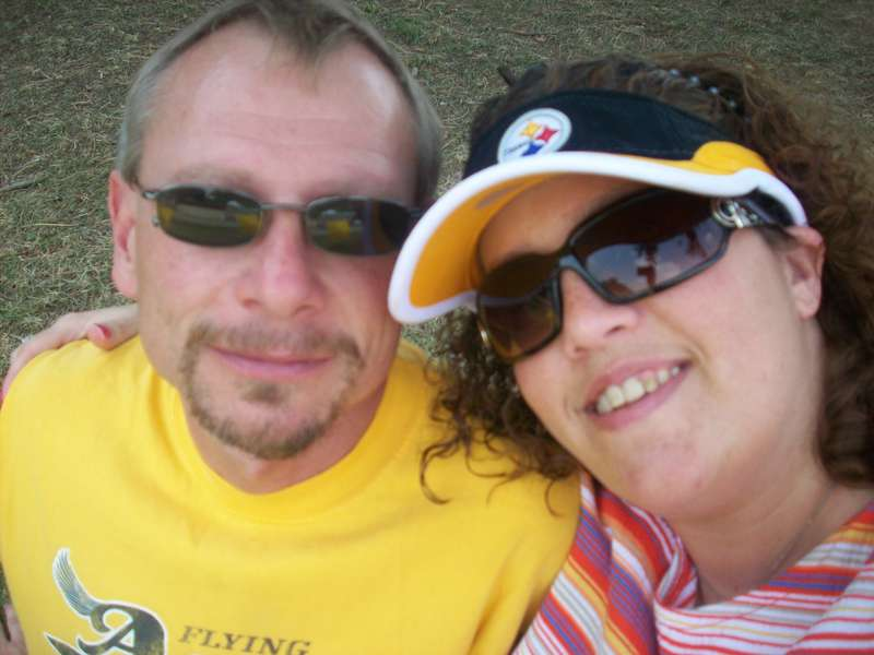 Me and Clay at Steelers Training Camp