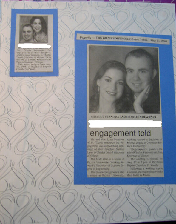 Wedding Memories - Engagement story cont.
