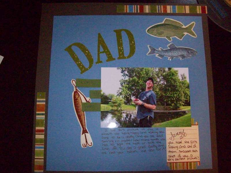 Dad loves to fish