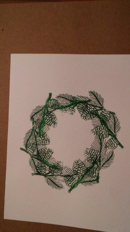 wreath of pine needles