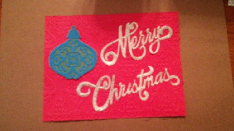 Merry Christmas die cut