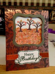 Fall trees birthday card