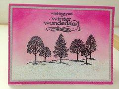 Pink TreesChristmas Card