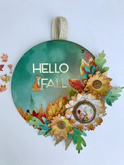 Hello Fall Wreath with process video
