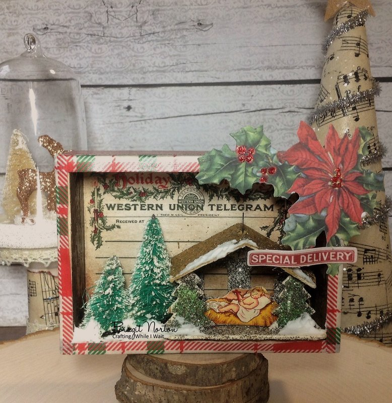 Vintage Inspired Shadow Box