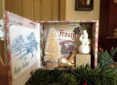 Frosty ~ Vintage Inspired Shadow Box