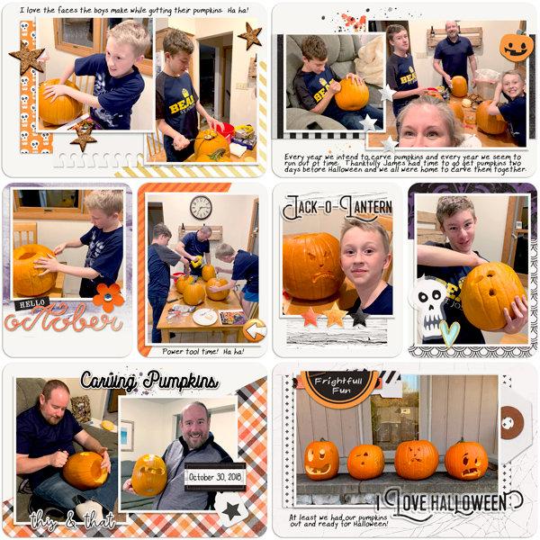 Carving Pumpkins 2018