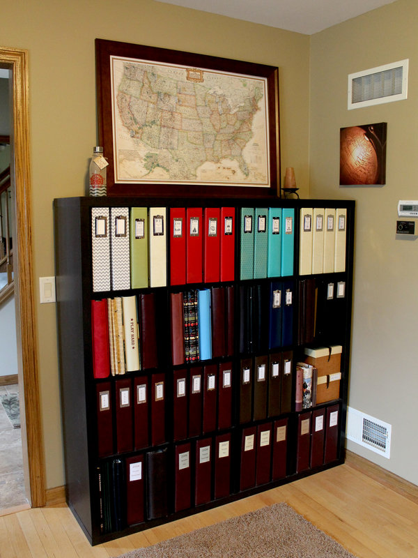 Scrapbook Album Storage