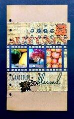 Autumn Blessings page using Elizabeth Craft Designs Planner Essentials