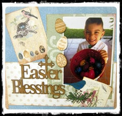 Easter Blessings Layout