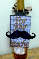 For Your Stache Wine Tag