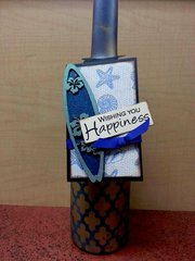 Happiness Surfboard Wine Tag