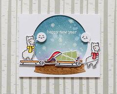 Happy new year from funny alpaca