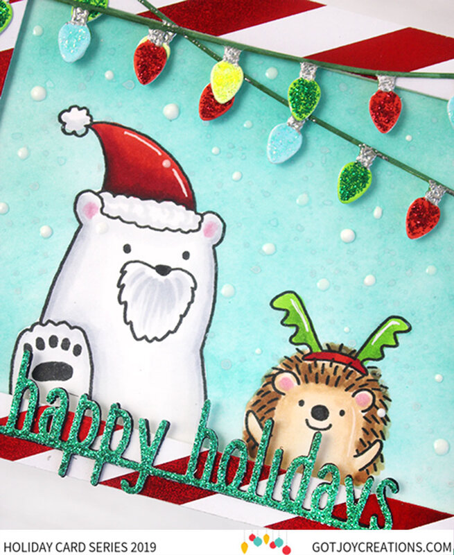 Happy Holidays Polar Bear & Hedgehog