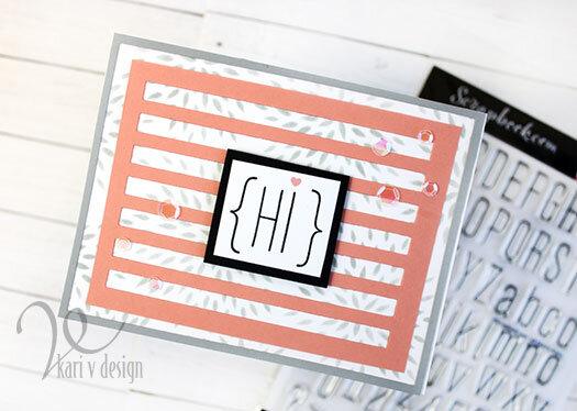 Coral Hi card