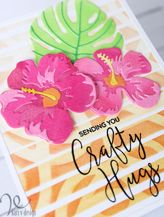 Crafty Hugs with Double Stencil Technique