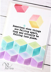 Falling Into Place Encouragement Card