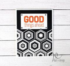 Good Things Ahead Tiled card