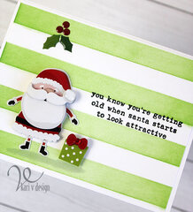 Santa Starts to Look Attractive Card