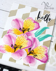 Hello Floral Card