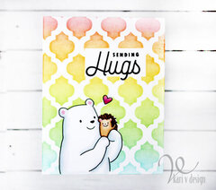 Sending Hugs Rainbow card