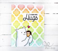 Sending Hugs Rainbow card