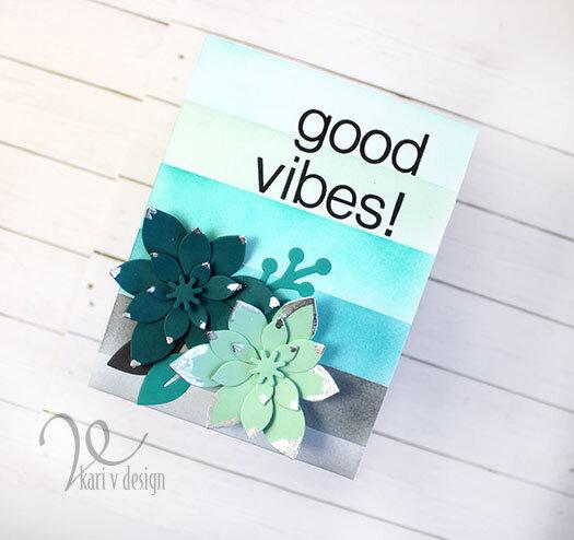 Good Vibes Succulent Card